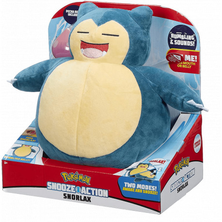 SNORLAX PLUSH 10-INCH WITH SNOOZE ACTION