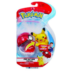 POKEMON POKEBALL ACTION SETS AVEC PELUCHE PIKACHU