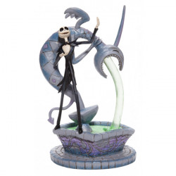 JACK SKELLINGTON ON FOUNTAIN A NIGHTMARE BEFORE CHRISTMAS STATUE 22 CM