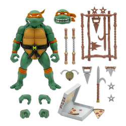 LES TORTUES NINJA FIGURINE ULTIMATES MICHAELANGELO 18 CM
