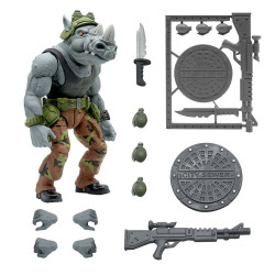 LES TORTUES NINJA FIGURINE ULTIMATES ROCKSTEADY 20 CM