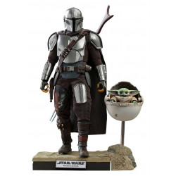 STAR WARS THE MANDALORIAN PACK 2 FIGURINES 1 6 THE MANDALORIAN THE CHILD DELUXE 30 CM