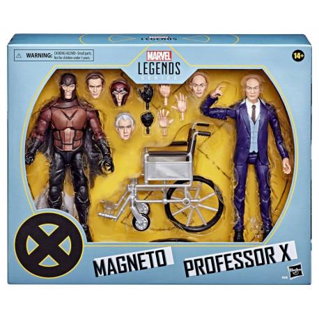MAGNETO & PROFESSOR X X-MEN MARVEL LEGENDS PACK 2 FIGURINES 2020 15 CM