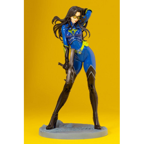 BARONESS G.I. JOE BISHOUJO STATUETTE PVC 25TH ANNIVERSARY BLUE COLOR VER. 23 CM