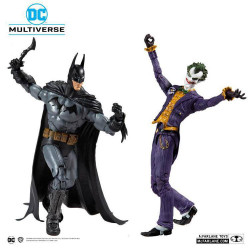 ARKHAM ASYLUM BATMAN VS ARKHAM ASYLUM JOKER DC MULTIVERSE PACK 2 FIGURINES COLLECTOR MULTIPACK 18 CM