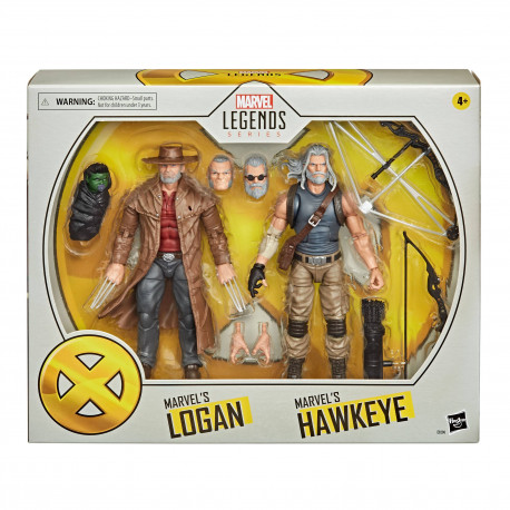 OLD MEN LOGAN & HAWKEYE MARVEL LEGENDS PACK 2 FIGURINES 2020 15 CM