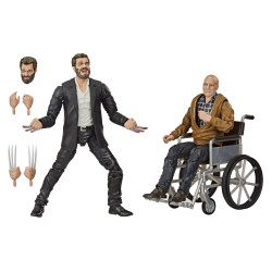 MARVEL LEGENDS SERIES PACK 2 FIGURINES 2020 MARVELS LOGAN & CHARLES XAVIER EXCLUSIVE 15 CM