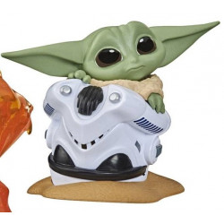 THE CHILD HELMET HIDING STAR WARS MANDALORIAN BOUNTY COLLECTION FIGURINE 6 CM