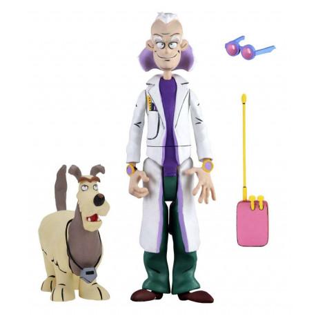DOC BROWN AND EINSTEIN RETOUR VERS LE FUTUR TOONY CLASSICS SERIE 1 FIGURINE 15 CM