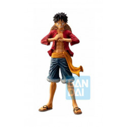 ONE PIECE STATUETTE PVC ICHIBANSHO THE BONDS OF BROTHERS LUFFY 28 CM