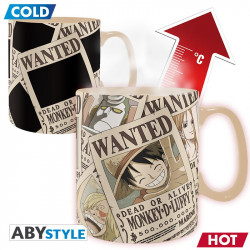 ONE PIECE MUG HEAT CHANGE 460 ML WANTED LUFFY
