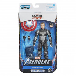 STEALTH CAPTAIN AMERICA MARVEL LEGENDS GAMERVERSE ACTION FIGURE 15 CM