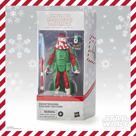 STAR WARS BLACK SERIES FIGURINE 2020 SNOWTROOPER HOLIDAY EDITION 15 CM