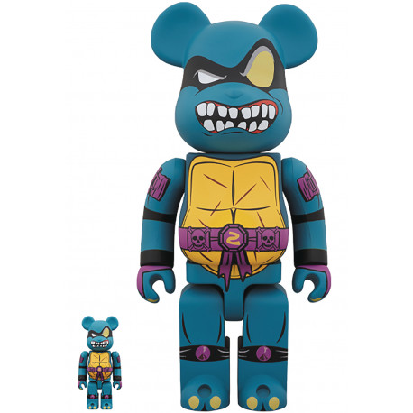 TMNT SLASH 100% & 400% BEARBRICK 2PACK