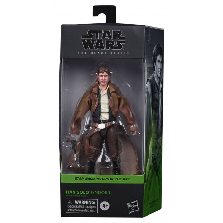 HAN SOLO ENDOR EPISODE VI STAR WARS BLACK SERIES 2020 WAVE 4 FIGURINE 15 CM