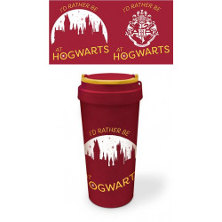HARRY POTTER MUG DE VOYAGE ECO BIOPLASTIQUE RATHER BE AT HOGWARTS