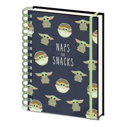 STAR WARS THE MANDALORIAN CAHIER A SPIRALE A5 SNACKS AND NAPS