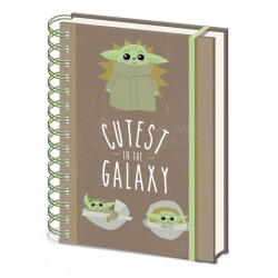 STAR WARS THE MANDALORIAN CAHIER A SPIRALE A5 CUTEST IN THE GALAXY