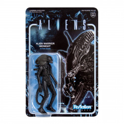ALIENS WAVE 1 FIGURINE REACTION ALIEN WARRIOR MIDNIGHT BLACK 10 CM