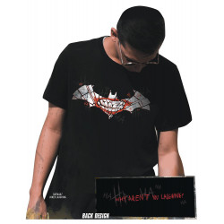 BATMAN JOKER LAUGHING SYMBOL T SHIRT SIZE XL