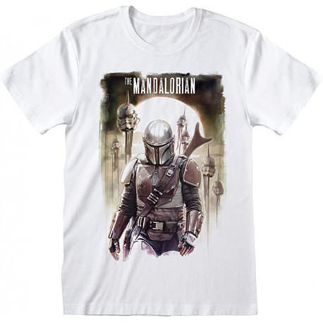 TROOPER HEAD THE MANDALORIAN STAR WARS T SHIRT SIZE M