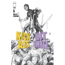 KICK-ASS VS HIT-GIRL 5 CVR B B W ROMITA JR