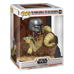 THE MANDALORIAN ON WANTHA WITH CHILD IN BAG STAR WARS FUNKO POP! DELUXE VINYL FIGURINE