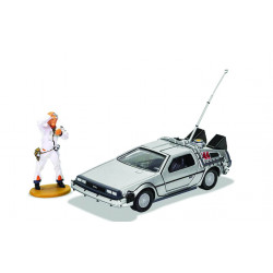 BACK TO THE FUTURE DELOREAN AND DOC BROWN FIGURE CORGI 1:36