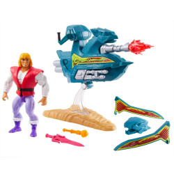 PRINCE ADAM WITH SKY SLED MASTERS OF THE UNIVERSE ORIGINS 2020 FIGURINE 14 CM