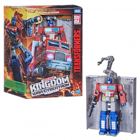 OPTIMUS PRIME TRANSFORMERS WAR CYBERTRON KINGDOM LEADER ACTION FIGURE 25 CM