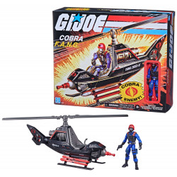 COBRA F.A.N.G. G.I. JOE RETRO COLLECTION SERIES VEHICULE AVEC FIGURINE
