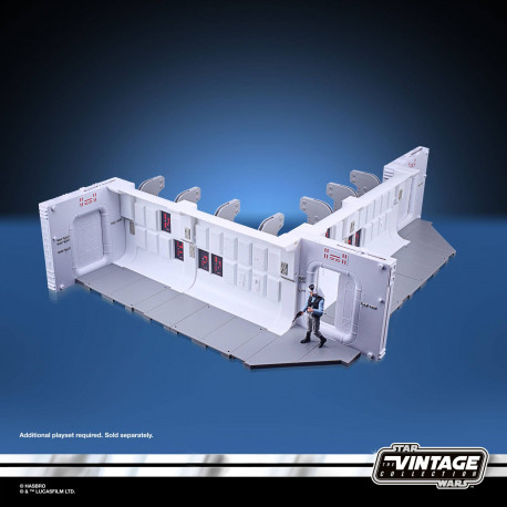 STAR WARS EPISODE V VINTAGE COLLECTION TANTIVE IV HALLWAY ET FIGURINE REBEL FLEET TROOPER 10 CM