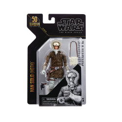 STAR WARS BLACK ARCHIVES 6IN HAN SOLO HOTH ACTION FIGURE