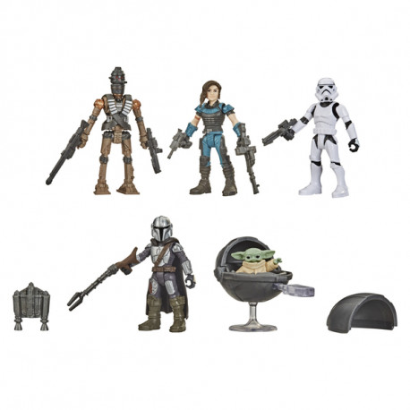 STAR WARS MISSION FLEET THEMANDALORIAN DEFEND THE CHILD 5 PACK ACTION FIGURE