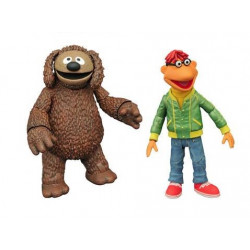 SCOOTER & ROWLF THE MUPPETS SELECT BEST OF SERIE 1 PACK 2 FIGURINE 13 CM