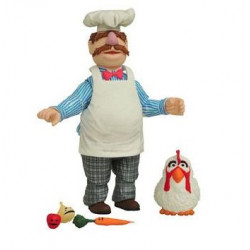 SWEDISH CHEF & CHICKEN THE MUPPETS SELECT BEST OF SERIE 2 PACK 2 FIGURINE 13 CM