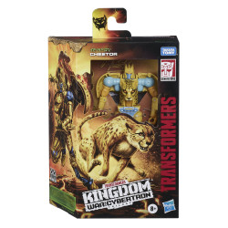 CHEETOR TRANSFORMERS GENERATIONS WAR FOR CYBERTRON: KINGDOM DELUXE 2021 WAVE 2 FIGURINE 14CM