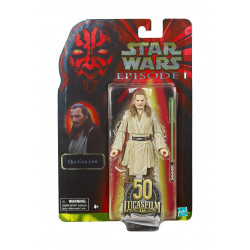 QUI-GON JINN STAR WARS EPISODE I BLACK SERIES LUCASFILM 50TH ANNIVERSARY FIGURINE 2021 15 CM
