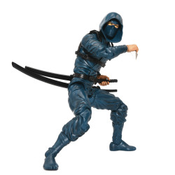 BLUE NINJA ARTICULATED ICONS CLAN OF DUSKS EMBRACE NINJA 6IN ACTION FIGURE