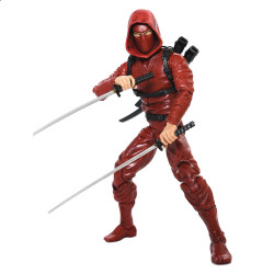 RED NINJA ARTICULATED ICONS CLAN OF THE CRIMSON FURY NINJA 6IN ACTION FIGURE