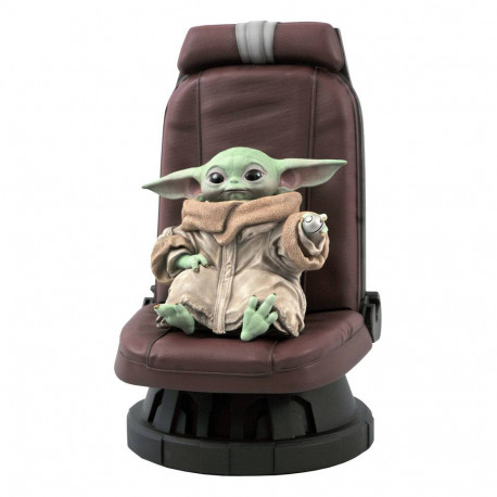 STAR WARS THE MANDALORIAN STATUETTE PREMIER COLLECTION 1/2 THE CHILD IN CHAIR