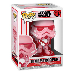 STAR WARS VALENTINES POP! STAR WARS VINYL FIGURINE STORMTROOPER W/HEART