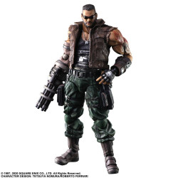 FINAL FANTASY VII REMAKE PLAY ARTS KAI FIGURINE BARRET WALLACE VER. 2