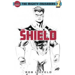 MIGHTY CRUSADERS ONE SHOT 1 THE SHIELD CVR G LIEFELD SKETCH