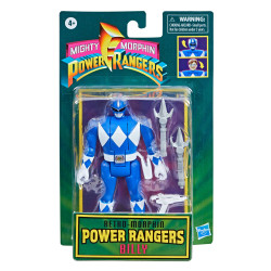 BLUE RANGER BILLY MIGHTY MORPHIN POWER RANGERS RETRO COLLECTION SERIES 2021 WAVE 1 FIGURINE 10 CM