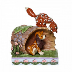 FOX AND HOUND STATUE TRADITIONS ENV. 14.5 CM