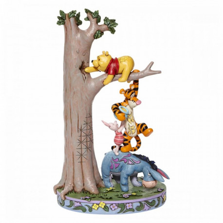 POOH, EEYORE, TIGGER AND PIGLET PLAY BY HUNNY TREE DISNEY TRADITIONS ENV. 22 CM