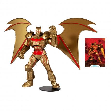 BATMAN HELLBAT SUIT GOLD EDITION DC MULTIVERSE FIGURINE 18 CM