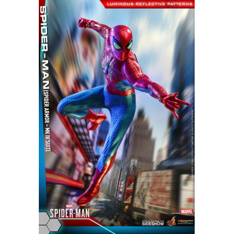 SPIDER-MAN SPIDER ARMOR MK IV SUIT MARVELS FIGURINE VIDEO GAME MASTERPIECE 30 CM