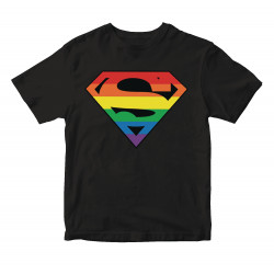 SUPERMAN PRIDE SYMBOL T-SHIRT TAILLE L